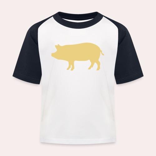 Nunca comas más de lo que puedas levantar - Camiseta béisbol niño