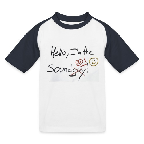 Hello I'm the sound girl - Kids' Baseball T-Shirt
