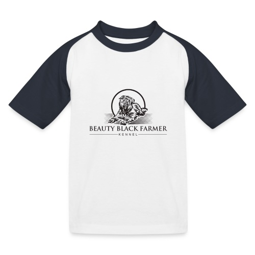 Beauty Black Farmer - Kinder Baseball T-Shirt