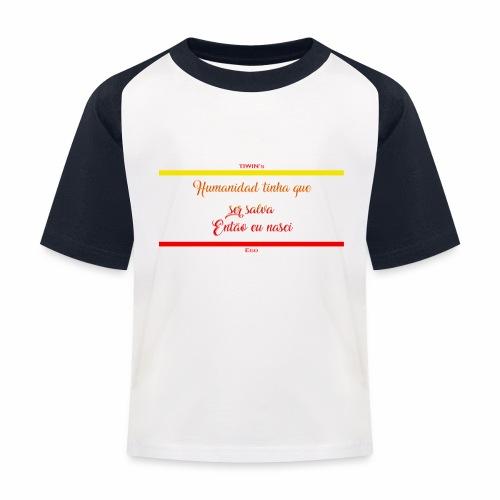 humanidad tinha salva texte jaune - T-shirt baseball Enfant