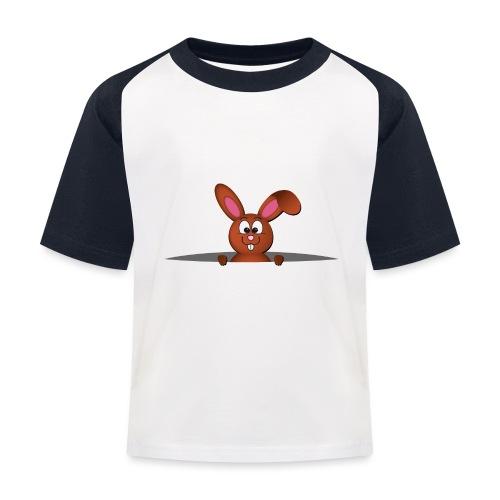 Cute bunny in the pocket - Maglietta da baseball per bambini