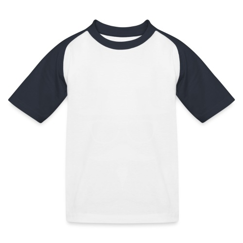 Moustachu White (H) - T-shirt baseball Enfant