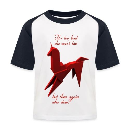 UnicornioBR2 - Camiseta béisbol niño