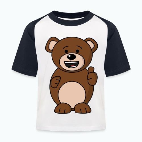 Bruno Bear Happy - Appelsin - Baseboll-T-shirt barn