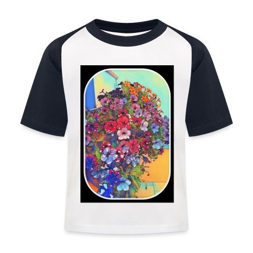 Flower Power 3 - Kinder Baseball T-Shirt