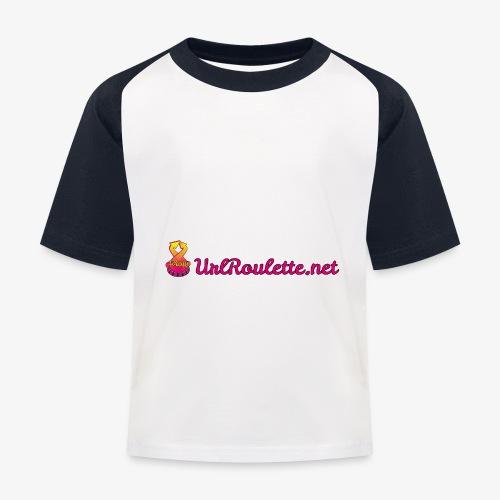 UrlRoulette Logo - Kids' Baseball T-Shirt