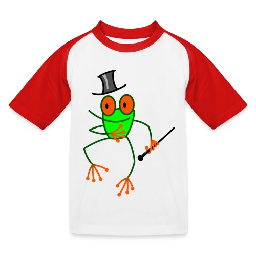 Dancing Frog - Kids' Baseball T-Shirt