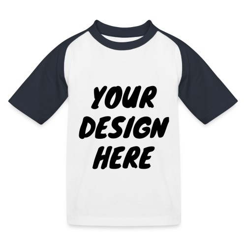 print file front 9 - Kids' Baseball T-Shirt