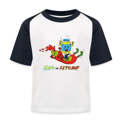 Mayo VS Ketchup - Maglietta da baseball per bambini