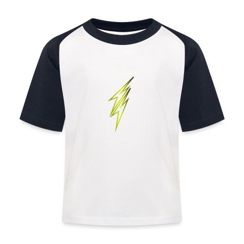 fulmine - Maglietta da baseball per bambini