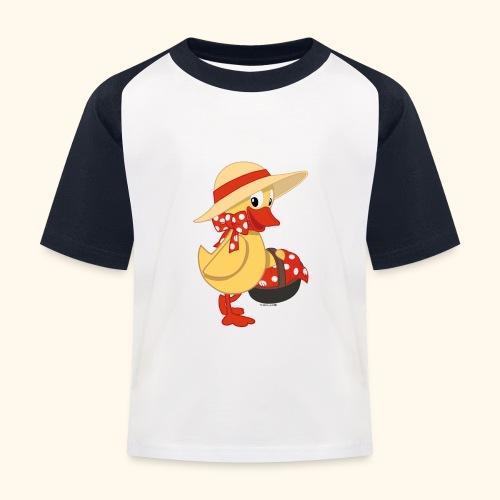 Schnatterinchen mit Korb - Kinder Baseball T-Shirt
