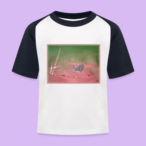Farfalla nella pioggia leggera - Maglietta da baseball per bambini
