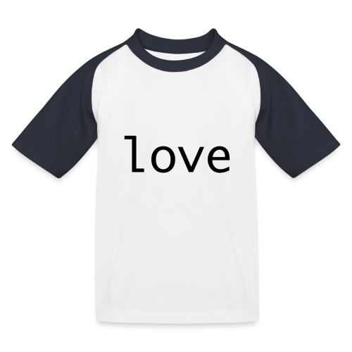 love - Baseboll-T-shirt barn