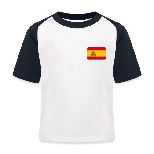 BCN ESPAÑA white-lettered 400 dpi - Kids' Baseball T-Shirt
