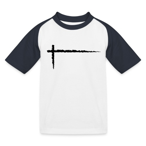 Kreuz_01 - Kinder Baseball T-Shirt