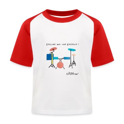 Azia Drum - Kids' Baseball T-Shirt
