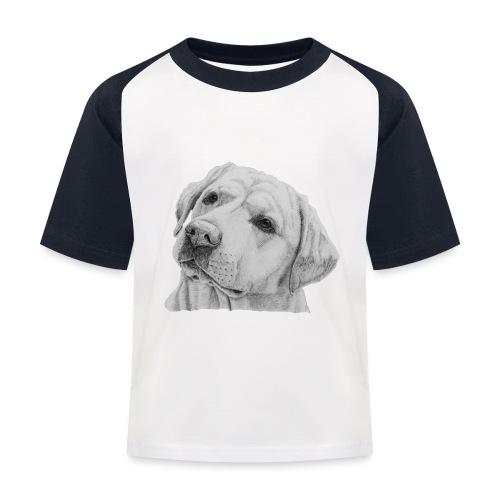 labrador retriever yellow - head - Baseball T-shirt til børn