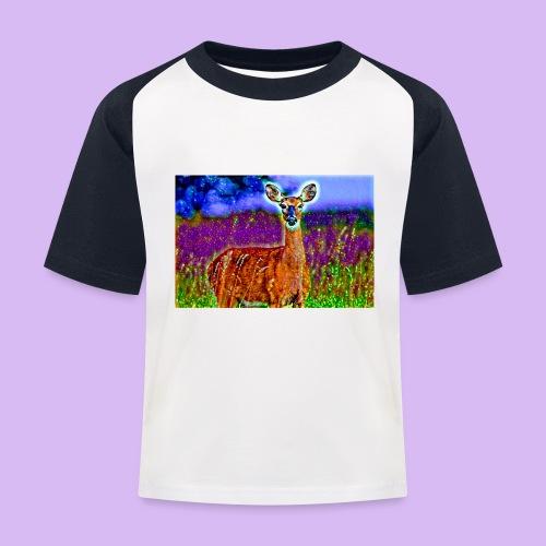 Cerbiatto con magici effetti - Maglietta da baseball per bambini