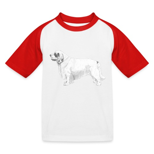 clumber spaniel - Baseball T-shirt til børn