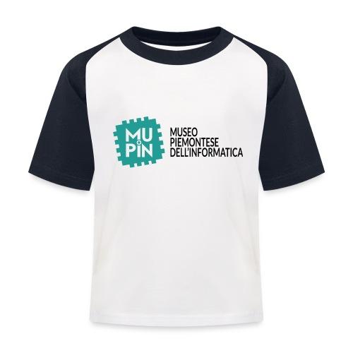 Logo Mupin con scritta - Maglietta da baseball per bambini