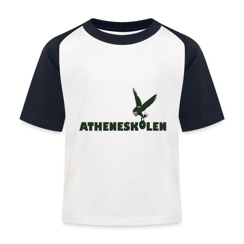 Mørkt logo - Baseball T-shirt til børn