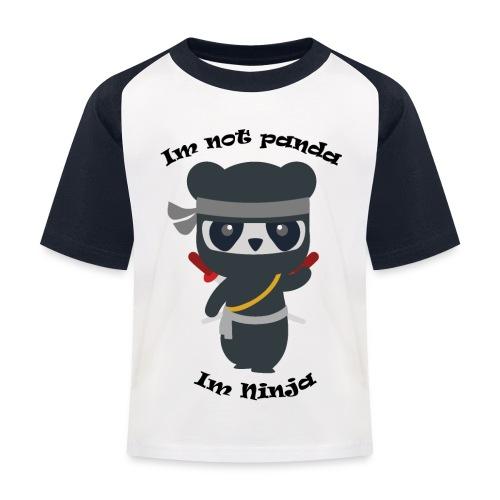 Non sono un Panda - Maglietta da baseball per bambini