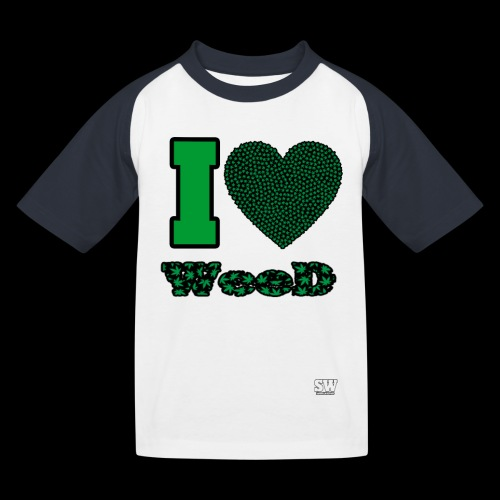 I Love weed - T-shirt baseball Enfant