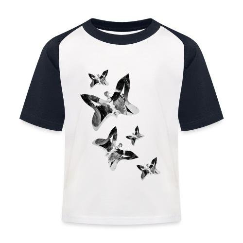 Schmetterlinge - Kinder Baseball T-Shirt
