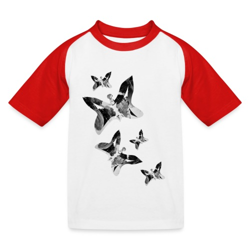 Schmetterlinge - Kinder Baseball T-Shirt