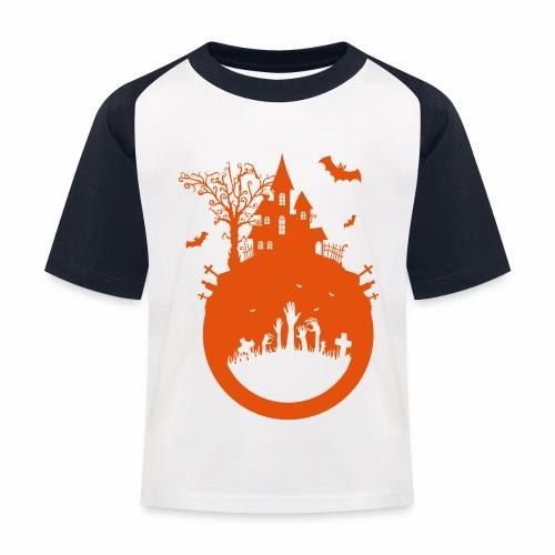 Halloween Design - Das Spukhaus - Kinder Baseball T-Shirt