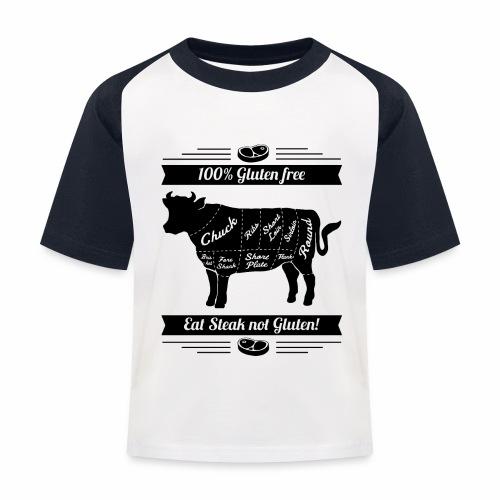 Humorvolles Design für Fleischliebhaber - Kinder Baseball T-Shirt