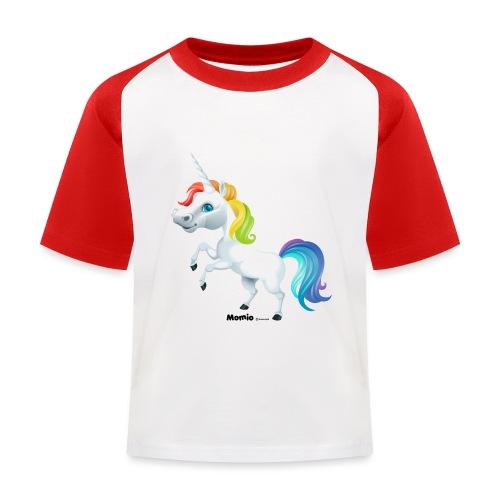 Regenboog eenhoorn - Kinderen baseball T-shirt