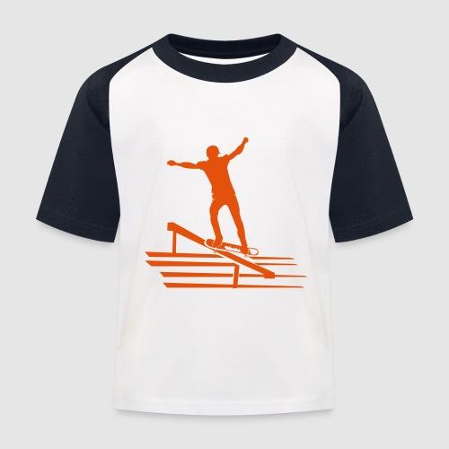 Skateboard - Kinder Baseball T-Shirt