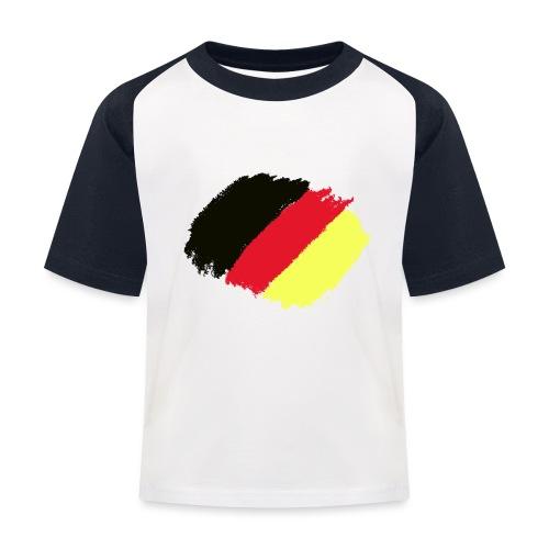 Schwarz rot gold - Kinder Baseball T-Shirt