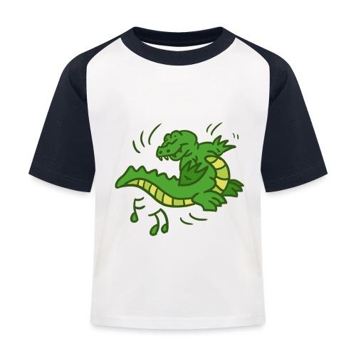 dancing crocodile - Baseboll-T-shirt barn