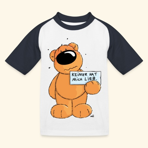 chris bears Keiner hat mich lieb - Kinder Baseball T-Shirt
