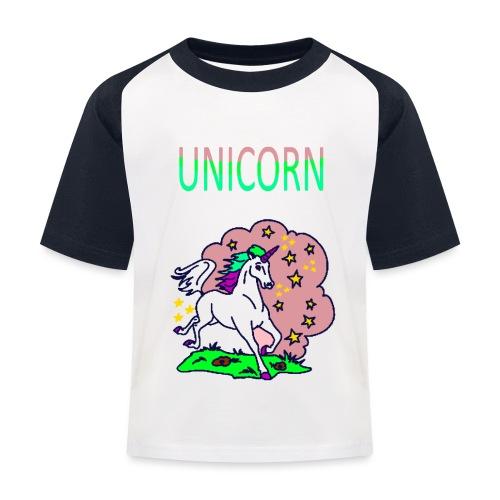 Einhorn unicorn - Kinder Baseball T-Shirt