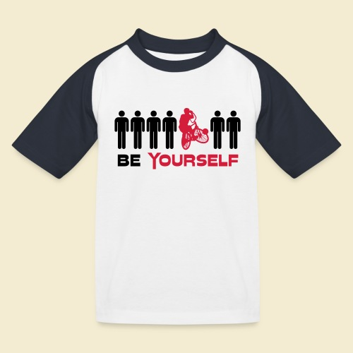 Radball | Be Yourself - Kinder Baseball T-Shirt