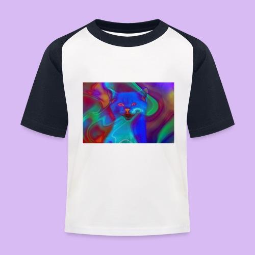 Gattino con effetti neon surreali - Maglietta da baseball per bambini