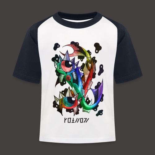 Poisson multi-color - T-shirt baseball Enfant
