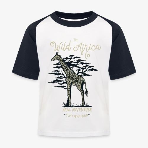 Giraffe - Kinder Baseball T-Shirt