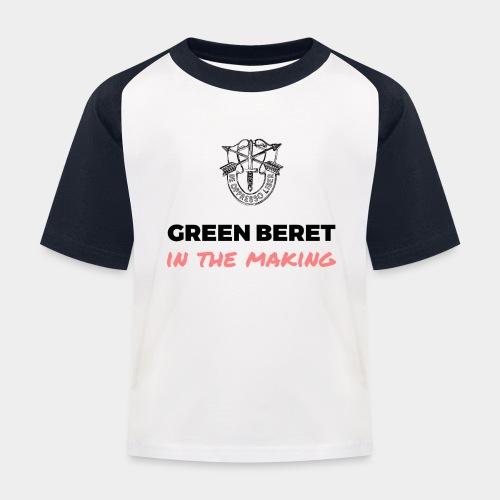 Green Beret in the Making - Kids' Baseball T-Shirt