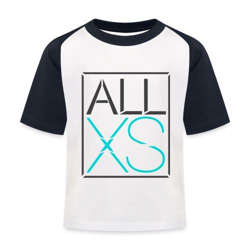 Black and Blue basic - Kinderen baseball T-shirt