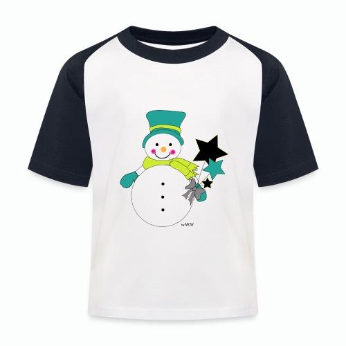 Snowtime-Green - Kinder Baseball T-Shirt