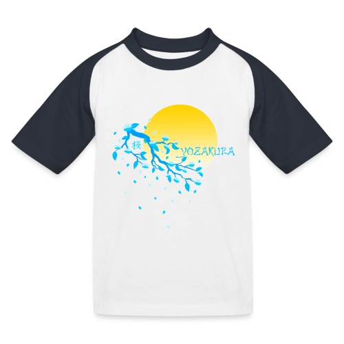 Cherry Blossom Festval Full Moon 2 - Kinder Baseball T-Shirt