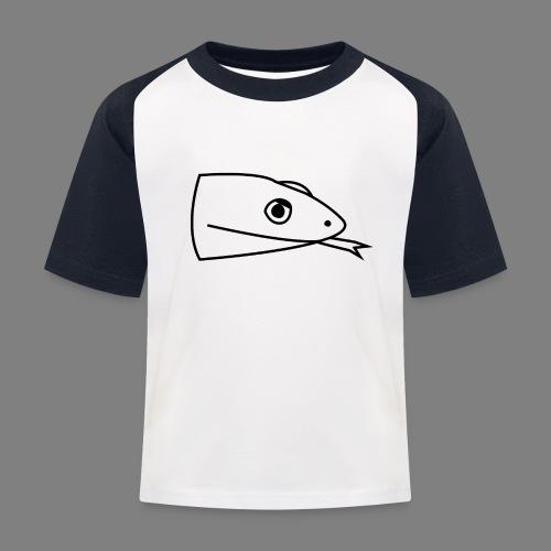 Snake logo black - Kinderen baseball T-shirt