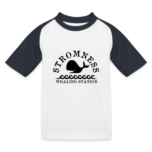 Sromness Whaling Station - Kids' Baseball T-Shirt