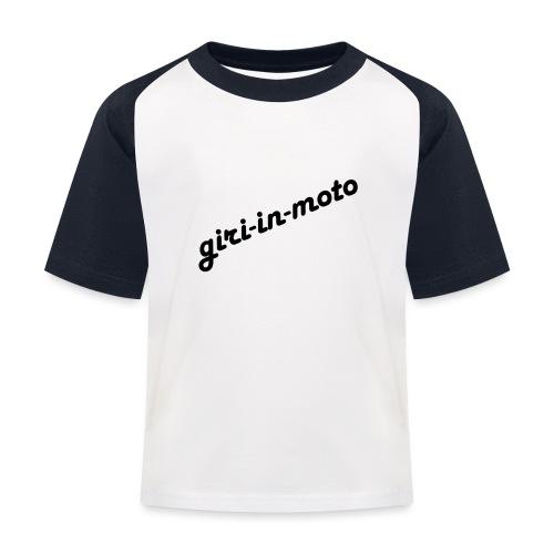 GIRI IN MOTO LIFESTYLE LADY NERO - Maglietta da baseball per bambini