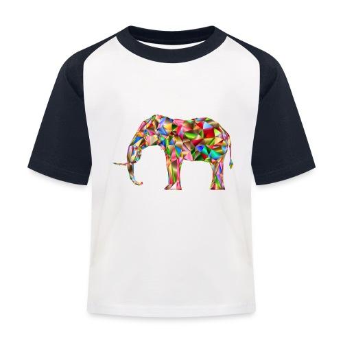 Gestandener Elefant - Kinder Baseball T-Shirt