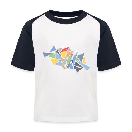 Modern Triangles - Kids' Baseball T-Shirt